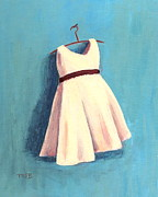 Hanger Framed Prints - The Little Dress Framed Print by Marianne Beukema