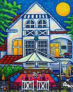 Lisa Lorenz Painting Metal Prints - The Little Festive Danish House Metal Print by Lisa  Lorenz