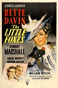 1940s Poster Art Framed Prints - The Little Foxes, Poster Art, Bette Framed Print by Everett