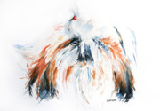 Shih Tzu Posters - The Little Horror Poster by Stephie Butler