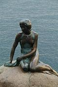 Copenhagen Denmark Digital Art - The Little Mermaid by Alberta Brown Buller