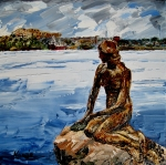 Little Mermaid Paintings - The Little Mermaid by Wendy Winbeckler