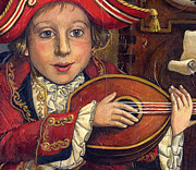 Lute Prints - The little Mozart.Detail. Print by Victoria Francisco