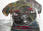 Dog Art Art - The Little Pug In Striped Pyjamas by Brian Buckley