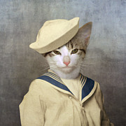 Cat Digital Art - The Little Rascal by Martine Roch