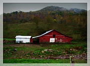 Old Country Roads Prints - The Little Red Barn Print by Lj Lambert