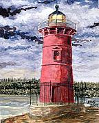 The Little Red Lighthouse - Jeffrey Print by Jon Schaubhut