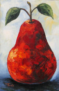 Red Pear Framed Prints - The Little Red Pear Framed Print by Torrie Smiley