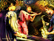 Jazz Art - The Little Red Rooster Club by Mike Massengale