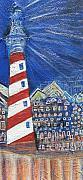 The Little Town Gets Lit Print by Anne-Elizabeth Whiteway