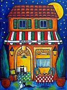 Lisa Lorenz Painting Metal Prints - The Little Trattoria Metal Print by Lisa  Lorenz