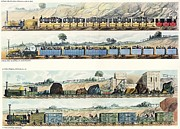 Liverpool Posters - The Liverpool And Manchester Railway 1830 Poster by Sheila Terry