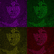 Jim Morrison Prints - The Lizard King In 3d Print by Robert Margetts