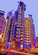 Low Light Framed Prints - The Lloyds Building City of London Framed Print by Chris Smith