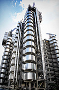 Award Digital Art Framed Prints - The Lloyds Building Framed Print by Martin  Fry