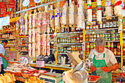 Big Wine Framed Prints - The Local Deli Framed Print by Wingsdomain Art and Photography