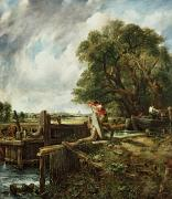 Ship Paintings - The Lock by John Constable