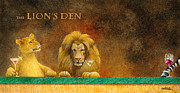 Lion Posters - The Loins Den... Poster by Will Bullas