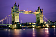 The London Tower Bridge At Twilight Print by Thomas Schoeller