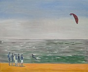 Kite Surfing Originals - The Lone Kiter Tarifa 2012 by Bill White