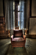 Horror Tale Prints - The Lone seat Print by Nathan Wright