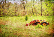 Country Art Prints - The Lone Tractor Print by Paul Ward