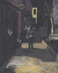 Alleyway Paintings - The Lonely Beat by Jack Skinner