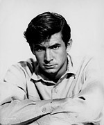 1950s Portraits Framed Prints - The Lonely Man, Anthony Perkins, 1957 Framed Print by Everett