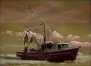 Brian Lukas Art - The Lonely Shrimper by Brian Lukas