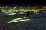 Bench Framed Prints - The Lonely Tourist at Pentagon Memorial Framed Print by Metro DC Photography