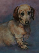 Animal Portraits Pastels Prints - The Long and the Short of It Print by Pamela Pretty