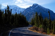 Mountain Road Prints - The Long and Winding Road Print by Larry Ricker