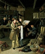 Distraught Painting Prints - The Long Bill Print by James Henry Beard