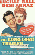 Films By Vincente Minnelli Posters - The Long, Long Trailer, Desi Arnaz Poster by Everett