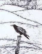 Raven Drawings Originals - The long long winter by Anna  Duyunova
