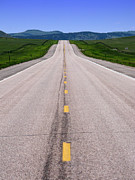 Wyoming Photo Prints - The Long Road Ahead Print by Olivier Le Queinec