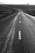 Field Photographs Posters - The Long Road Home . 7D9898 . Black and White Poster by Wingsdomain Art and Photography