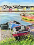 Vanda Luddy Prints - The Long Walk Galway as viewed from the Claddagh Print by Vanda Luddy