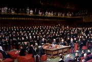 School Houses Painting Framed Prints - The Lord Chancellor About to Put the Question in the Debate about Home Rule in the House of Lords Framed Print by English School
