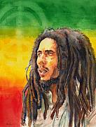 Reggae Paintings - The Lord Of Peace Bob Marley by Brian Child