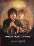 Chandler  Drawings - The Lord Of The Rings by Sandeep Kumar Sahota