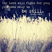 "Beauty Posters - ""the Lord Will Fight For You; You Need Poster by Traci Beeson"
