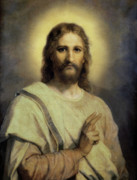 Jesus Painting Prints - The Lords Image Print by Heinrich Hoffmann