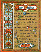 Conscious Painting Posters - The Lords Prayer Poster by Pg Reproductions