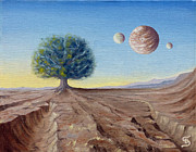 Planetary System Paintings - The Lorn Tree from Arboregal by Dumitru Sandru