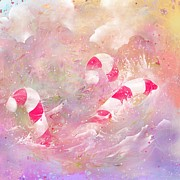 Candy Digital Art - The Lost Candy Canes by Rachel Christine Nowicki