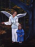 Night Angel Paintings - The Lost Child by Gloria Cigolini-DePietro