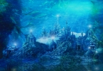 Underwater Digital Art - The Lost City by Karen Koski