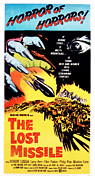 1950s Poster Art Framed Prints - The Lost Missile, Poster Art, 1958 Framed Print by Everett