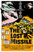 1950s Poster Art Framed Prints - The Lost Missle, 1958 Framed Print by Everett